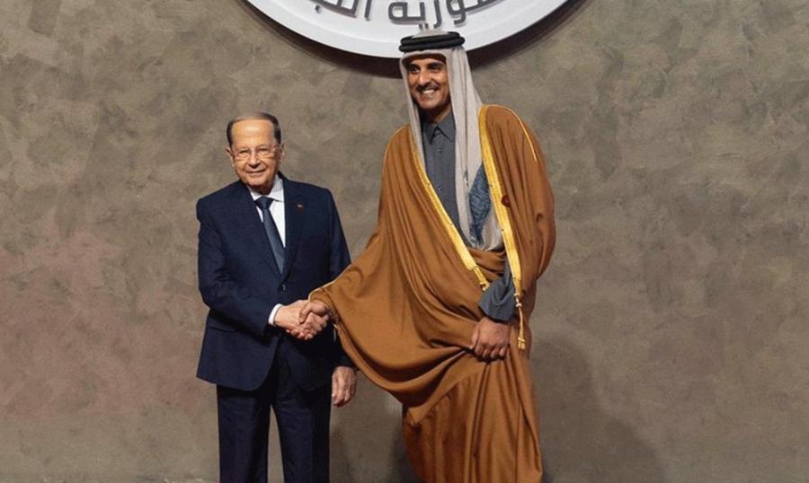 الرئيس عون لامير قطر: حضورك كان سببا في نجاح قمة بيروت