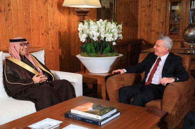 فرنجيه يستقبل السفير السعودي في بنشعي