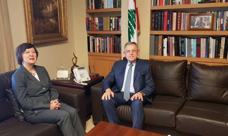 السنيورة التقى فرونتسكا وبحثا في التطورات في لبنان