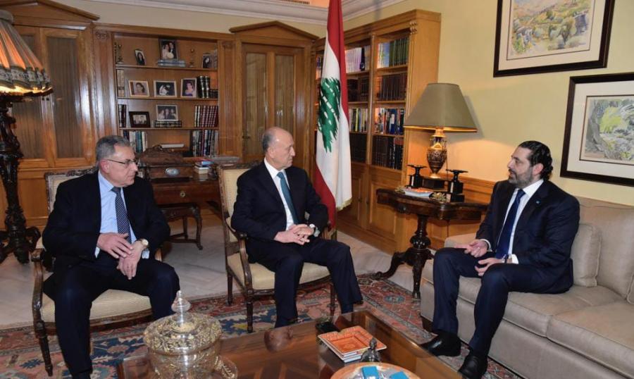 لقاء بين الحريري وريفي في دارة السنيورة