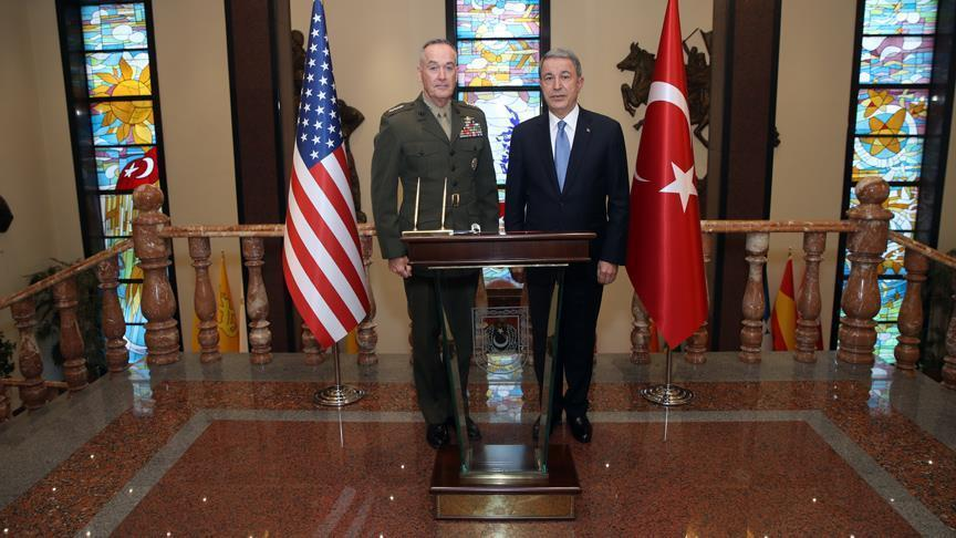 أكار ورئيس الأركان الأمريكي يبحثان محاربة الإرهاب بسوريا
