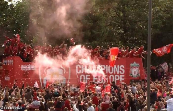 نصف مليون مشجع في ليفربول لتحية أبطال أوروبا