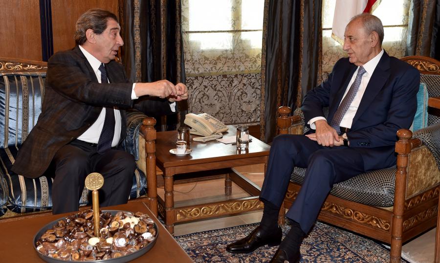 بري إستقبل سفيري الهند والاردن مودعين وعرض مع سفير قطر التطورات