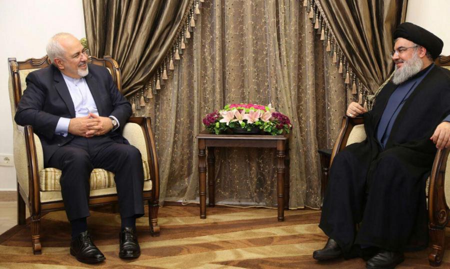 نصرالله خلال لقائه ظريف: المساندة الإيرانية صنعت الإنتصارات